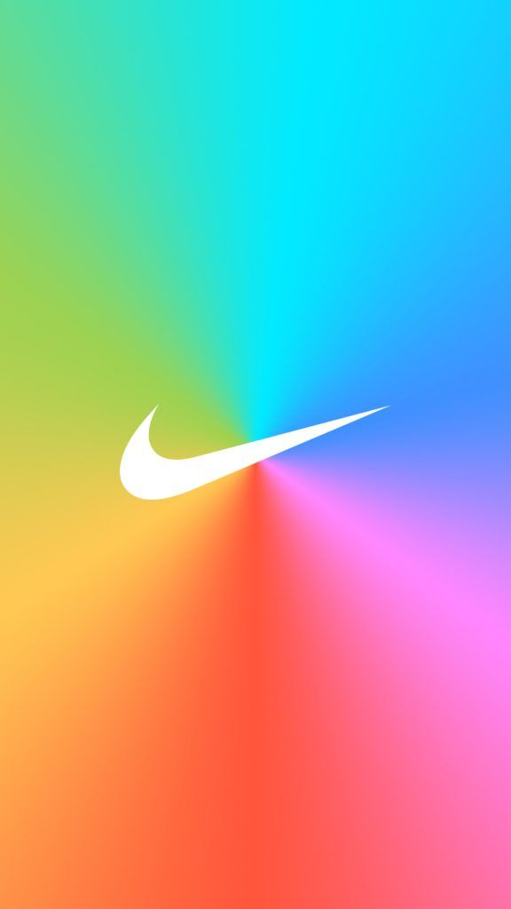 [レインボー]ナイキロゴ/NIKE LogoiPhone壁紙 iPhone 5/5S 6/6S PLUS SE Wallpaper Background