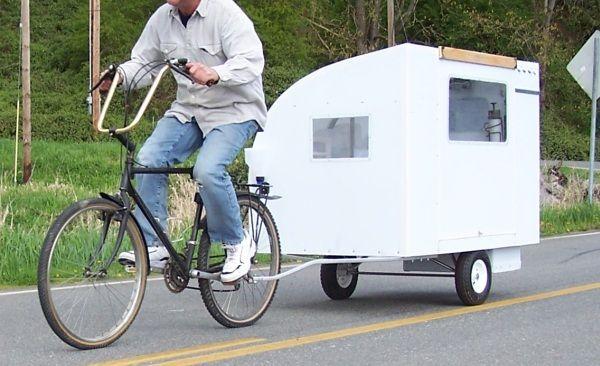 自転車で牽引するキャンピングカー「Bicycle Camper」