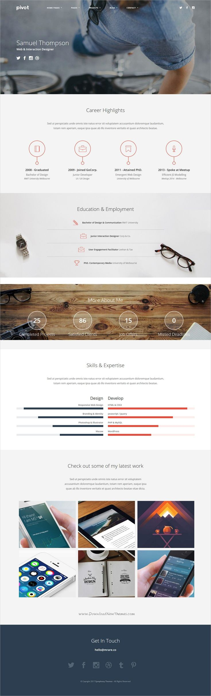 resume builder college students%0A Pivot  Drupal   Multipurpose Theme with Paragraph Builder