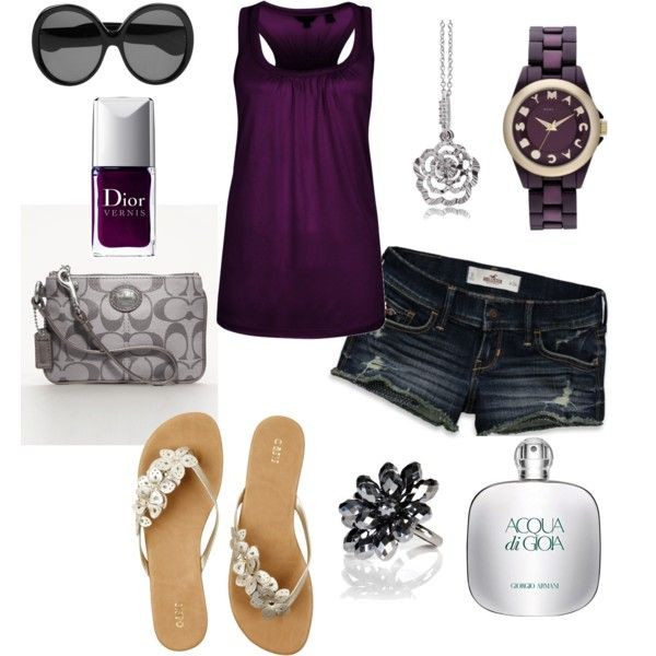 :0): Fashion, Purple Outfit, Summer Outfit, Style, Clothes, Dream Closet, Spring Summer, Purple Top