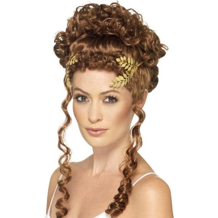 Corona romana laurel dorado para mujer