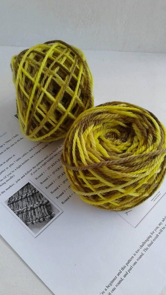 Knitting kit diy kit gift for knitters pattern and yarn