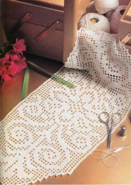 Crochet 'Plenitude' Filet runner ~ Free pattern and chart