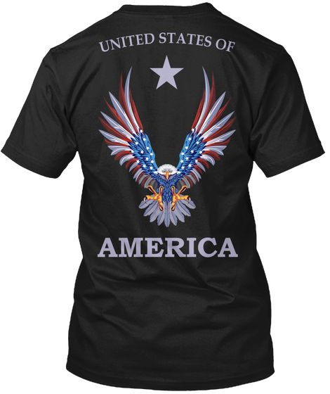Patriotic Black T-Shirt Back