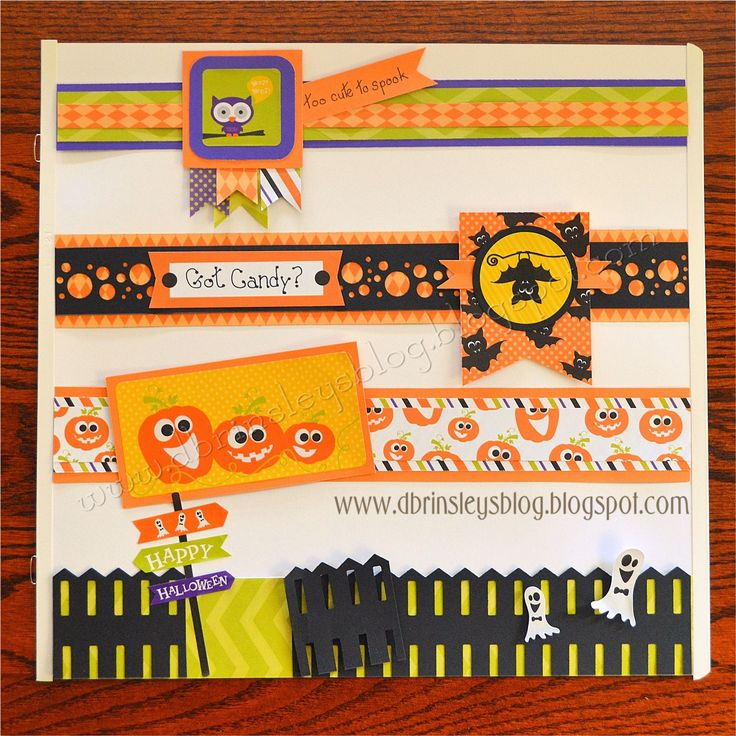 LOVE these Halloween borders by Diana Brinsley! #CreativeMemories #Halloween www.creativememories.com