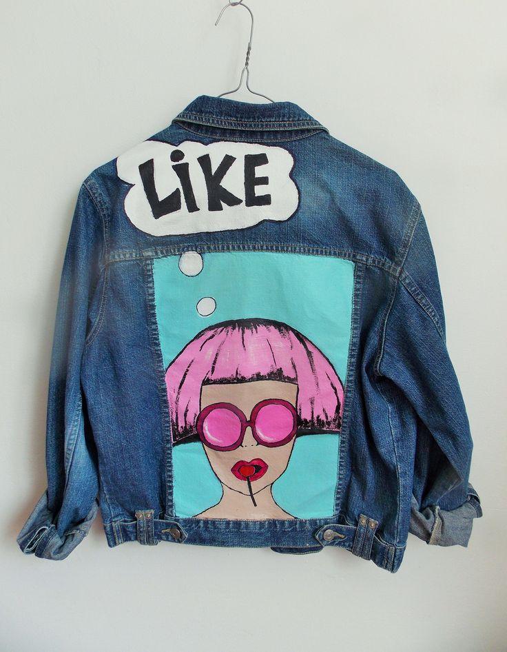 PopArt Jacket #denim#Jacket#handmade#intishop