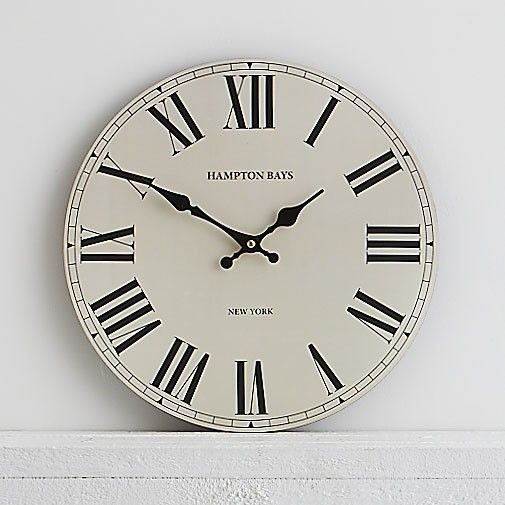 Hampton Bays Wall Clock 34cm - Our classic wall clock is a traditional time piece which gently draws the eye in any room