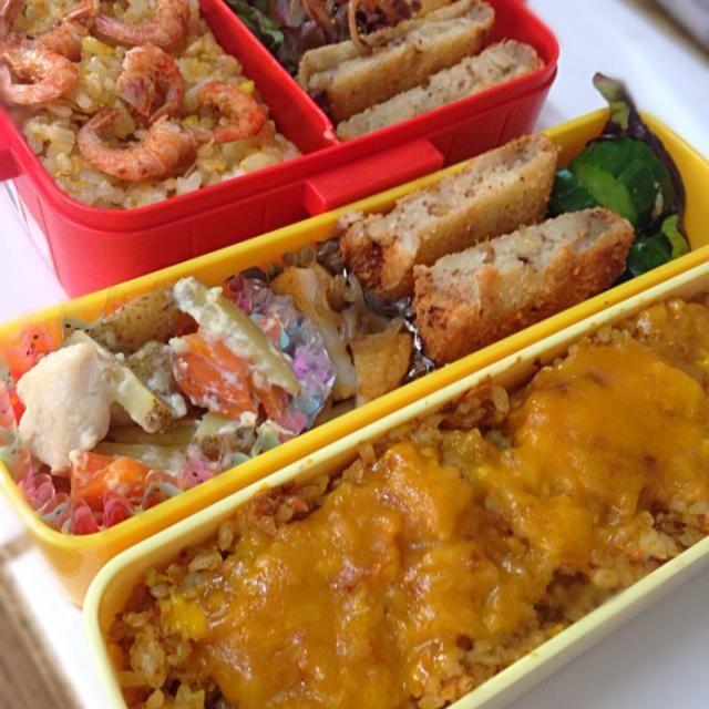ロイドはNZ出身。なかなか良い曲です。  冷蔵庫掃除のお弁当。チャーハン。 1人はチーズラバーだからトッピング。  さあ張り切って行くよ。 私のは、昨日香川県で買った魚類。 残りもの詰めました。 - 46件のもぐもぐ - ロードのロイヤルズ聴きながら 本日のお弁当 by Yuri