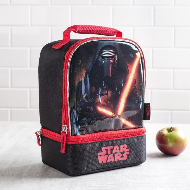 Make sure you have a full stomach before making a decision to join the dark side! This insulated Thermos lunch bag is perfect for taking your lunch with you. With large and small zip close compartments, a comfortable padded handle and thermal insulated design, your lunch will be as delicious as the moment it was made.