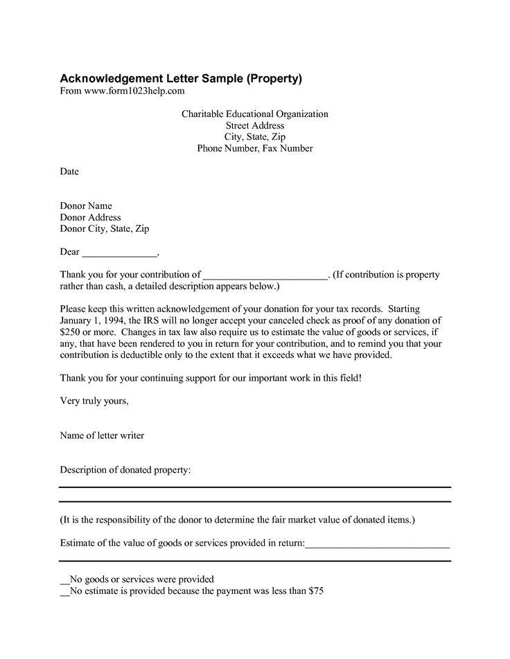 10 best Donation Letters images on Pinterest Letter templates - donation receipt letter