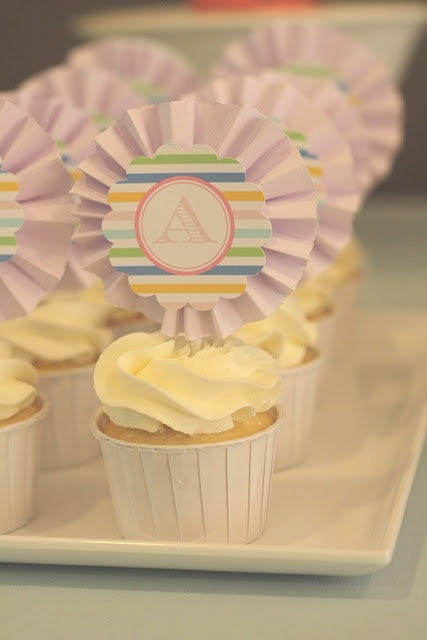 monogram it!: Themed Christening, Owl Themed, Parties, Christening Party, Things Party, Party Ideas, Cupcake Toppers