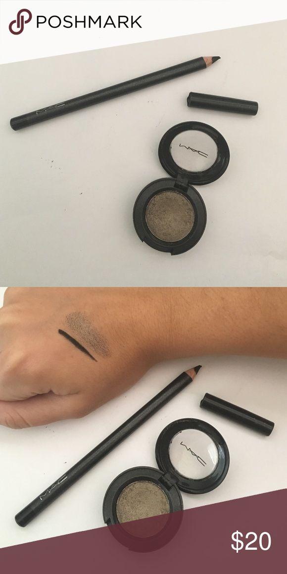 """MAC eyeliner & eyeshadow duo Brand new Mac eyeshadow in """"Concrete"""" and Mac eyeliner pencil in """"Smolder"""" MAC Cosmetics Makeup"""