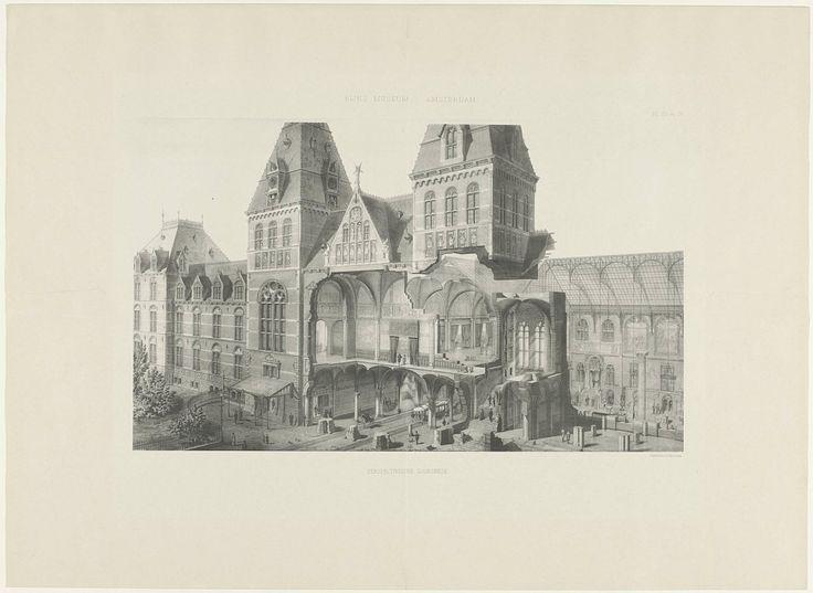 Perspectivische doorsnede van het Rijksmuseum, Amand