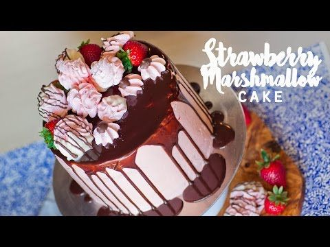 Strawberry Marshmallow Cake - Zefir Torte - Tatyanas Everyday Food