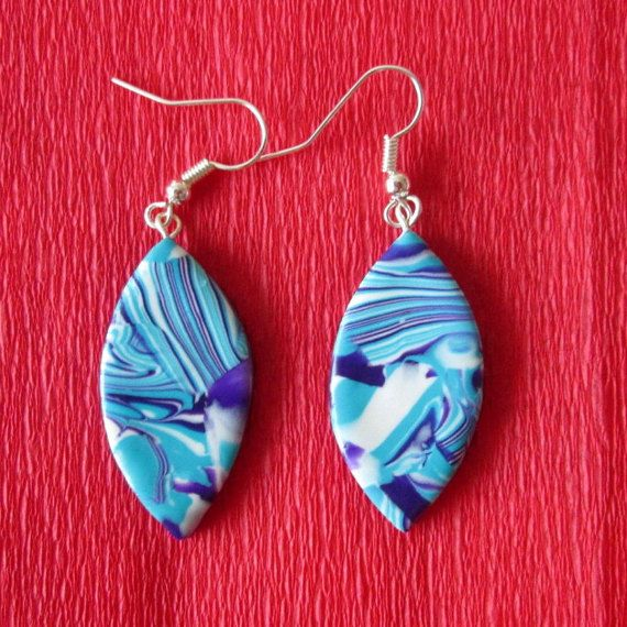 turquoise sky blue earringscolorful fall fashion style trendy gifts by FloralFantasyDreams