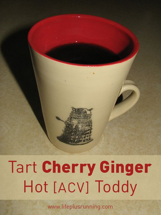 Tart Cherry Hot Toddy - have to try this for the anti-inflammatory benefits (but it sounds awful!). I'll try to remember to update after trying. Fresh ginger, tart cherry juice, cinnamon, apple cider vinegar, honey