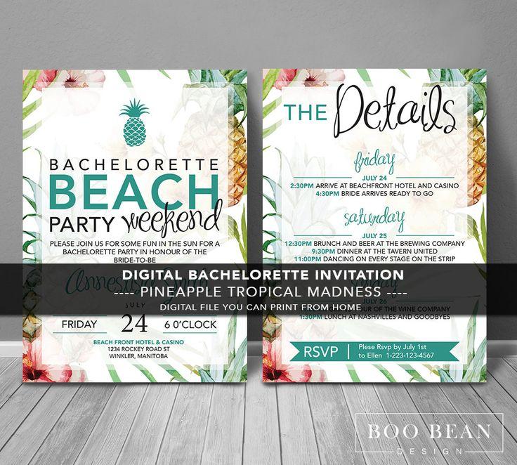 25 best Beach Bachelorette ideas – Cheap Bachelorette Party Invites