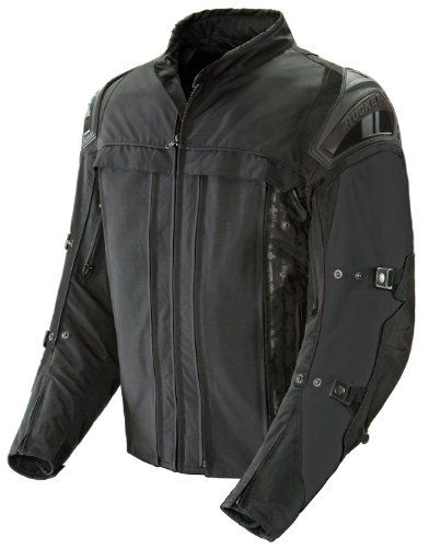 Joe Rocket Rasp 2.0 Men's Motorcycle Riding Jacket (Black/Black, X-Large)  Featuring a reinforced RockTex 660 chassis, C.E. approved armor, external injection molded shoulder armor, and external dual density spine padding, the next generation Rasp has you locked, loaded, and ready for the next sortie into hostile territory or your daily commute. Joe Rocket Rasp 2.0 Textile Motorcycle Riding Jacket. RockTex 660 outer shell reinforced with an additional layer of 500D Hitena textile at ..
