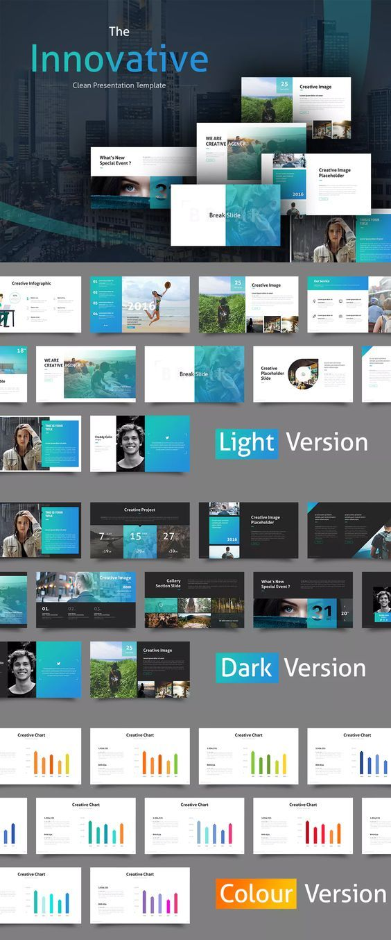The Innovative Clean PowerPoint Template Flat Clean Minimalist