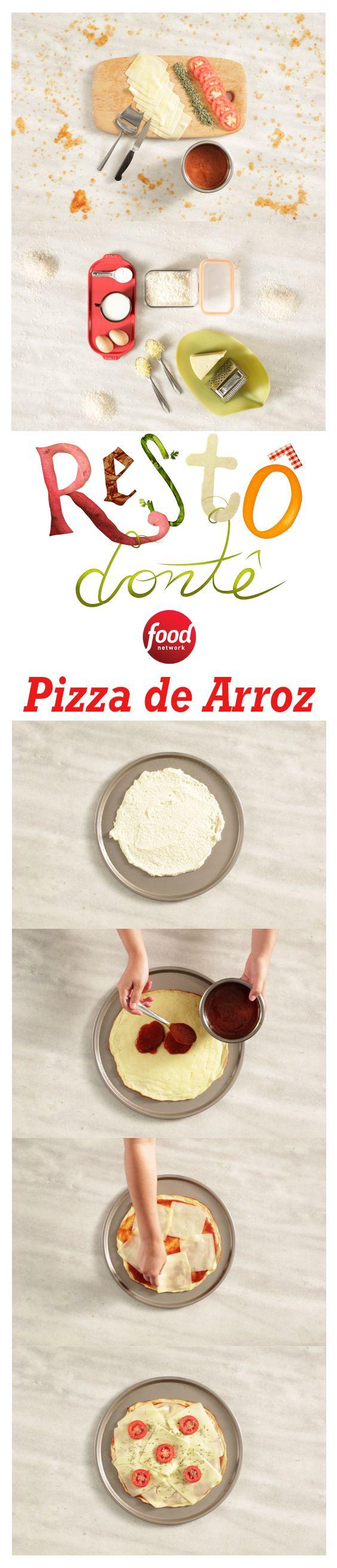 Sobrou Arroz? A gente te ensina uma receita super prática de Pizza com massa de Arroz! Experimente fazer aí na sua casa!