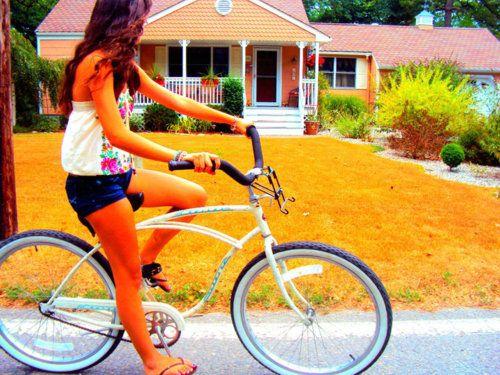 Summer bike rides.