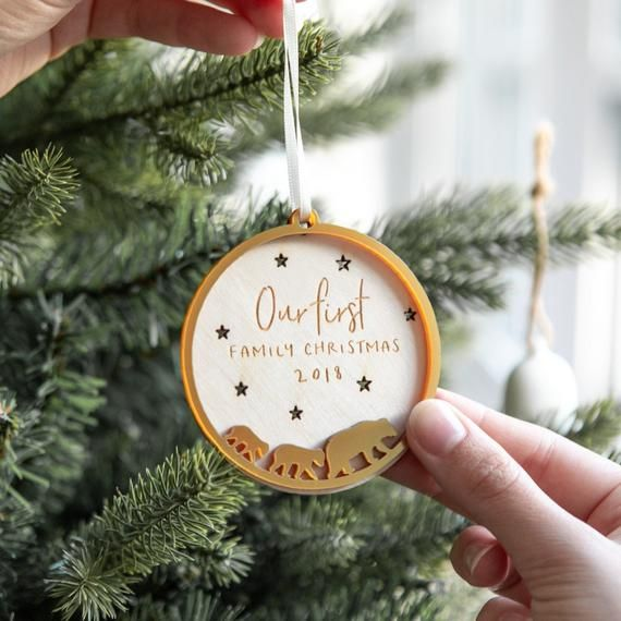 Personalised Bear Family Christmas Bauble Family Bauble Etsy In 2020 Personalised Christmas Decorations Christmas Gift Decorations Family Christmas Ornaments