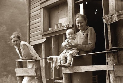 Coal Miner's Family  Here is a great photo of the poor family of a Coal Miner, Marine, West Virginia. It was created in 1938 by Marion Post Wolcott. Marion was a photographer noted for her spectacular work in documenting the poverty of the Great Depression.