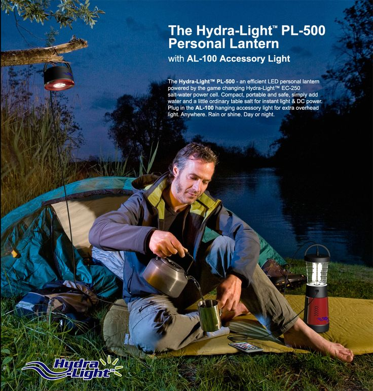 Cell #phone charger & lantern powered by saltwater ideal for #travel #camping #backpackers & #emergency #light