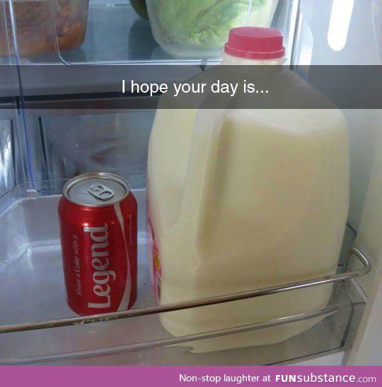 I am 100% sure this is Barney Stinson's fridge