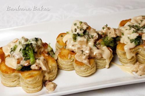 Creamy Cashew Chicken Puffs (Vols-au-Vents) @Barbara Bakes {Barbara Schievi