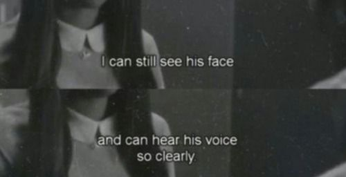 I can still see his face. I can still hear his voice so clearly in my ears. 'Yayaya'