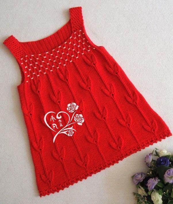 Kırmızı --- Little Miss Elbise - Xiaofan - Xiaofan aşk örme