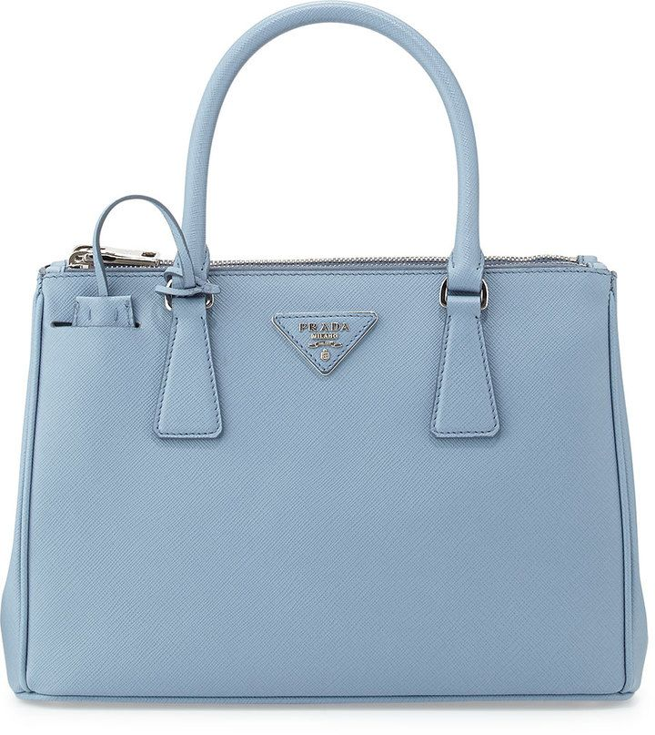 30b07796b7 ... 50% off prada saffiano lux double zip tote bag light blue astrale  handbags wallets in