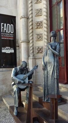 Fado singer sculpture