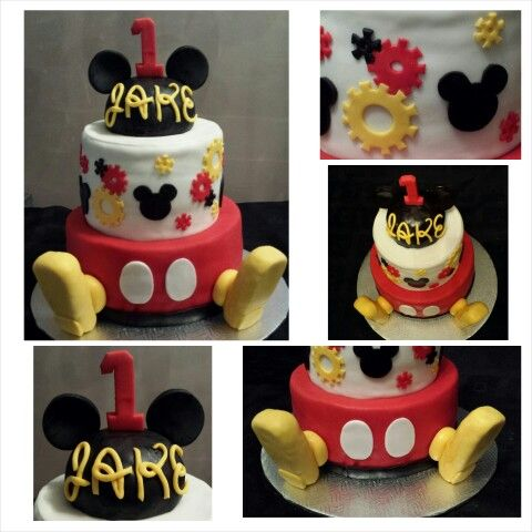 Anna's cake creations!   1st birthday mickey mouse cake!