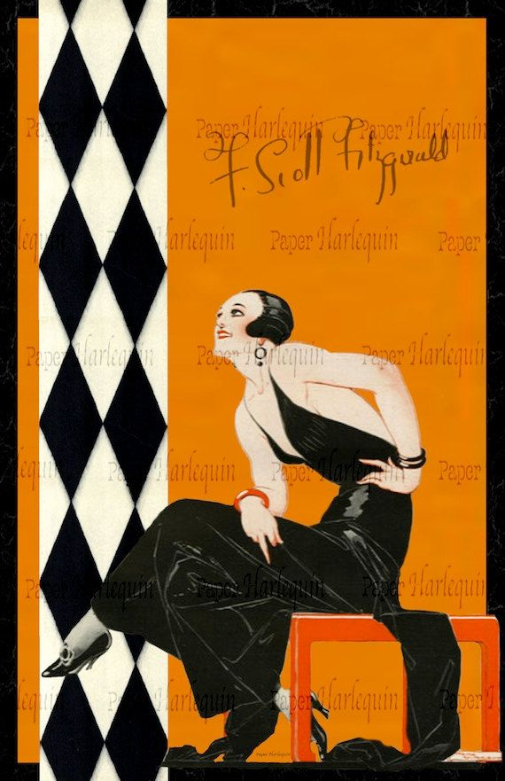 Perfect for a Gatsby party!  Gatsby Art Deco Poster: Vibrant Jazz Age Room Decor by PaperHarlequin