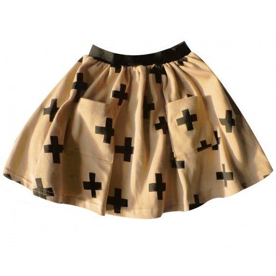 Beau Loves Jersey Skirt - Camel