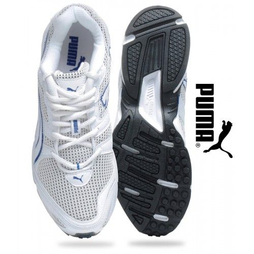 The Best shoes for running in India online at Xclusiveoffer.com with Puma Aquil Ind White & Cobalt Blue Running Shoes for Men  Shop online - http://www.xclusiveoffer.com/men/Footwear/Puma-Aquil-Ind-Running-Shoes