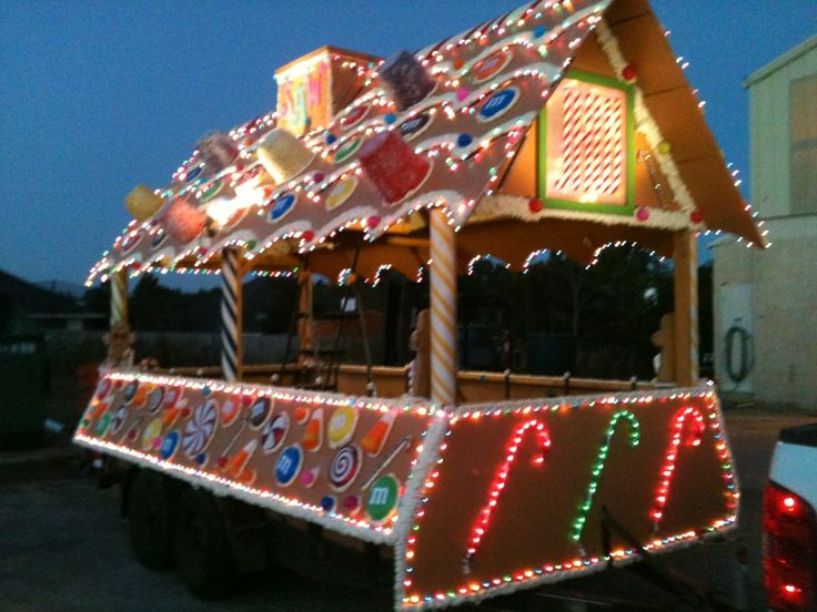 Our Christmas Parade Float Year 2 Gingerbread House                                                                                                                                                                                 More