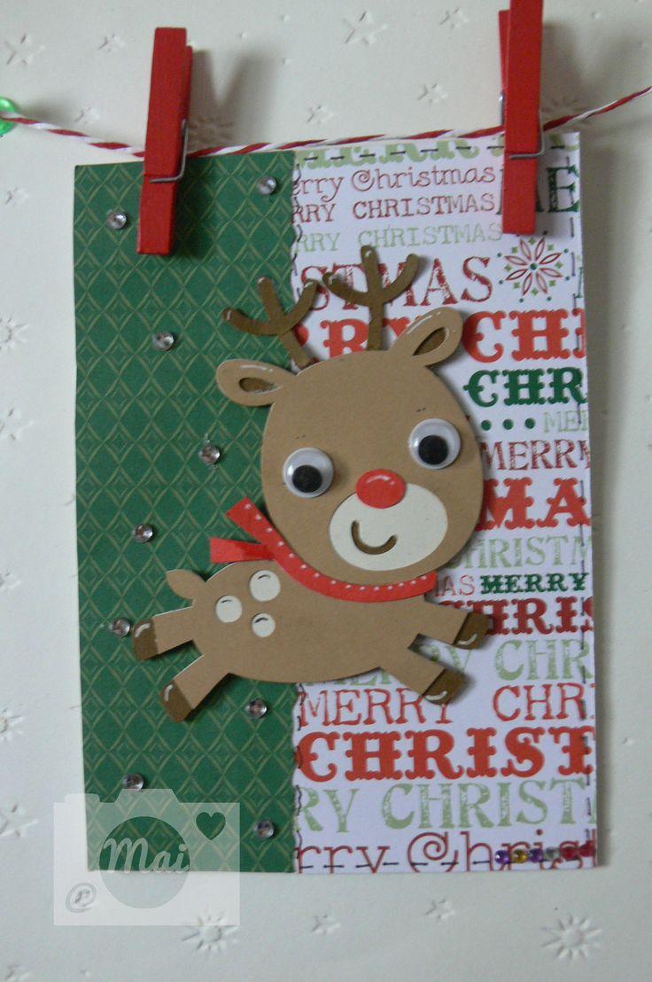 Tarjeta. Little Rudolph