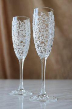 Resultado de imagem para taça decorada para casamento rustico