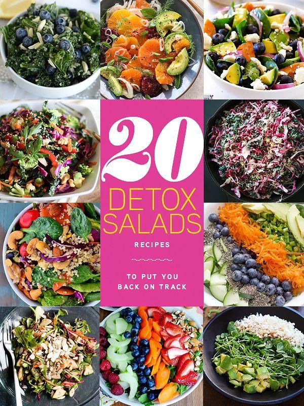 20 Detox Salads to Put You Back On Track | foodiecrush.com