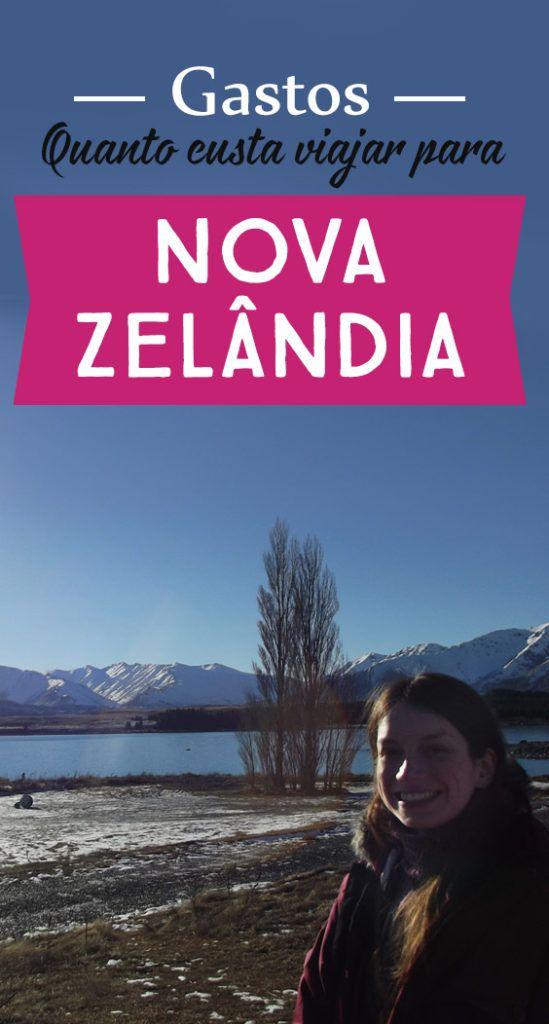 """A Nova Zelândia é um dos lugares mais espetaculares que já conheci! Fiz um intercâmbio de 5 meses lá e decidi fazer este vídeo Gastos Nova Zelândia: quanto custa o país dos esportes radicais"""" contando minhas experiências de viagem e valores de vistos, comida, transporte…"""