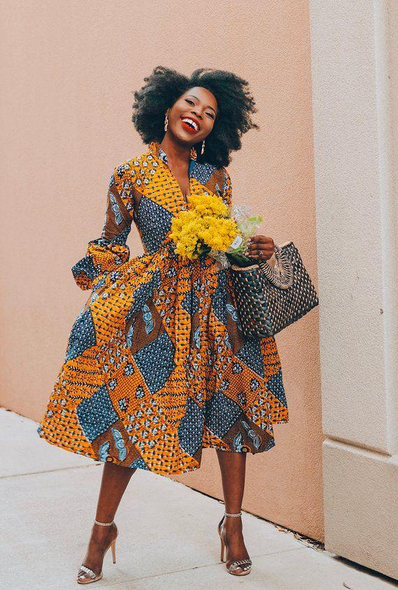 Ankara Dress African Clothing African Dress African Print Dress African Fashion Women/'s Clothing African Fabric maxi Dress Summer