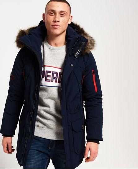 Superdry Premium Down Trans-Alps Parka Jacket Navy   Eros Khan ... 676b9aff88a7