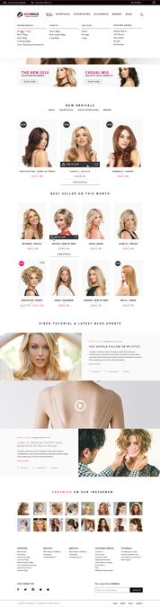 Design the Best eCommerce Wigs Store by kalikasi