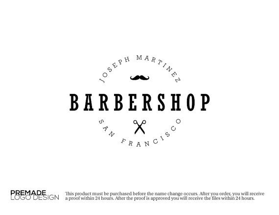 Barbershop Logo. Premade Logo Barbershop. by GraphicFlava on Etsy