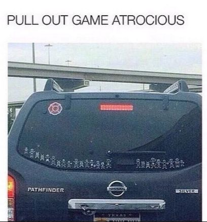 When those family stickers went too far: | 24 Pictures That Make Way Too Much Sense If You Drive