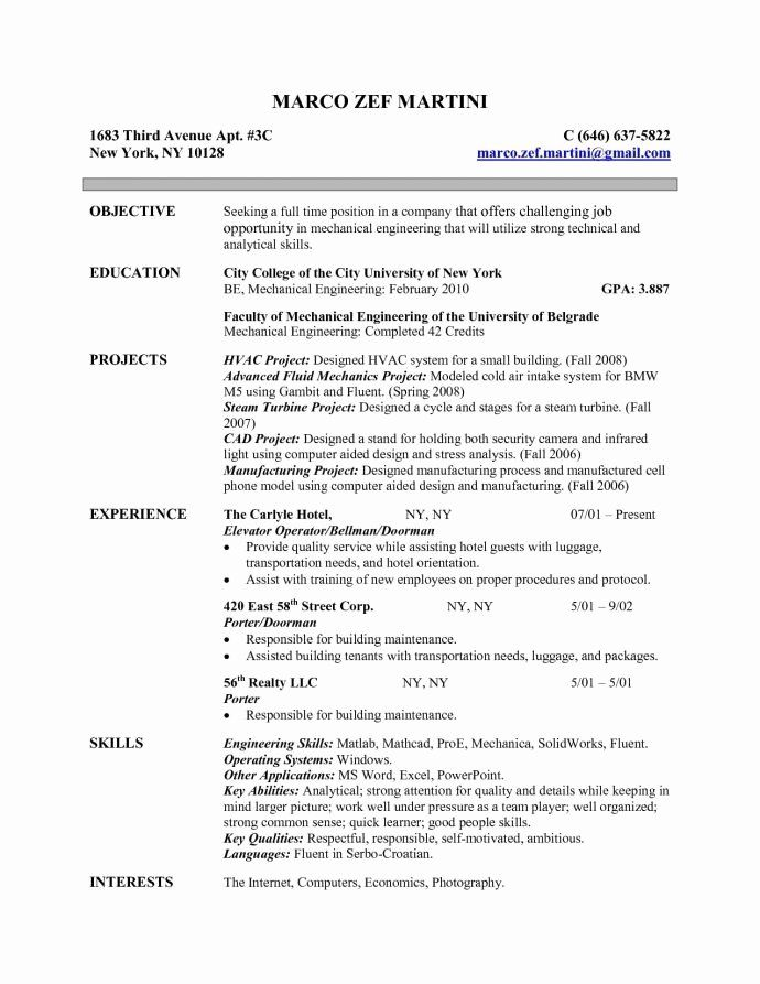Entry Level Electrical Engineering Resume Elegant Electrical Engineer Resume Objective Engineering Resume Resume Skills Resume