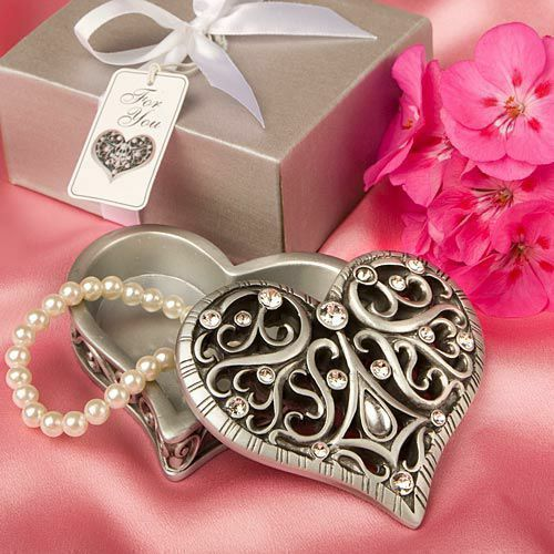 14 - Exquisite Heart Shaped Curio Box - Wedding Favors - Free Shipping